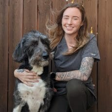 Juliane with her dog